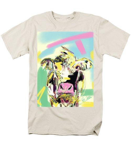 Cow- Happy Cow Men's T-Shirt  (Regular Fit) by Go Van Kampen