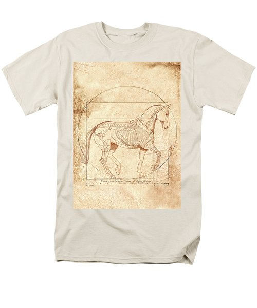 da Vinci Horse in Piaffe Men's T-Shirt  (Regular Fit) by Catherine Twomey