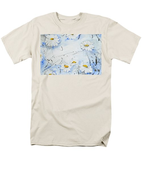 Daisies - Flower Men's T-Shirt  (Regular Fit) by Ismeta Gruenwald