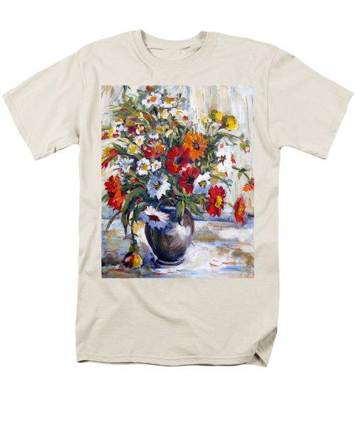 Daisies Men's T-Shirt  (Regular Fit) by Alexandra Maria Ethlyn Cheshire