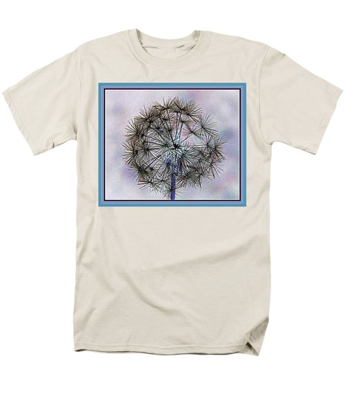 Men's T-Shirt  (Regular Fit) featuring the photograph Dandelion Blue And Purple by Kathy Barney