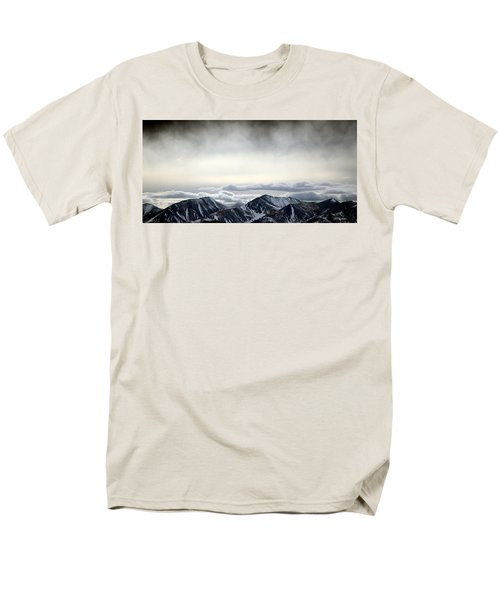 Men's T-Shirt  (Regular Fit) featuring the photograph Dark Storm Cloud Mist  by Barbara Chichester