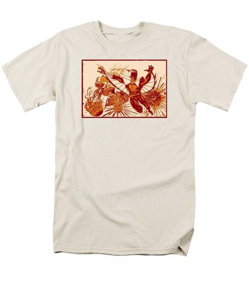 Darkhawk Vs Hobgoblin Posterized Men's T-Shirt  (Regular Fit) by Justin Moore
