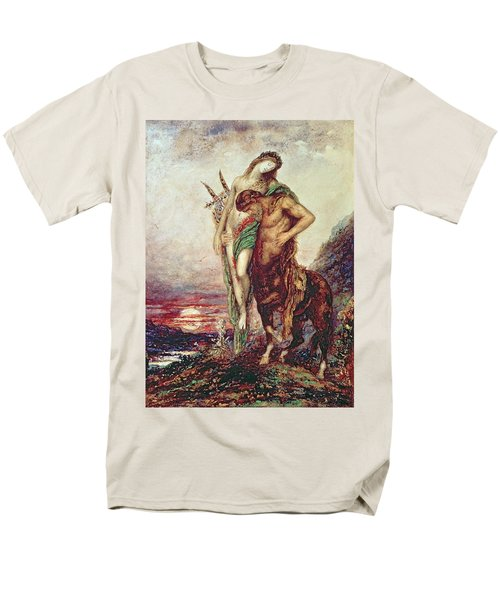 Dead Poet Borne By Centaur Men's T-Shirt  (Regular Fit) by Gustave Moreau