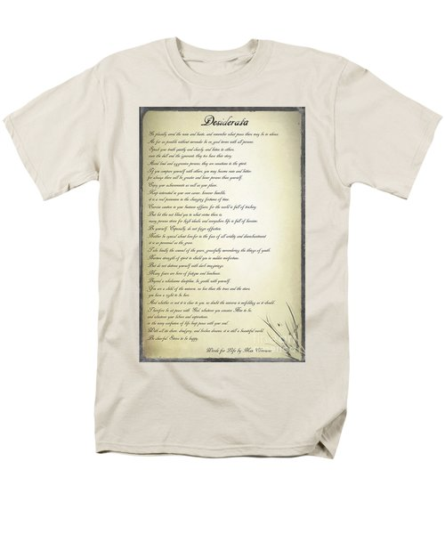 Desiderata 2 Men's T-Shirt  (Regular Fit) by Teresa Zieba