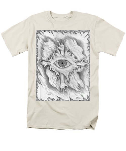 Men's T-Shirt  (Regular Fit) featuring the drawing Dimension 4 by Roz Abellera Art