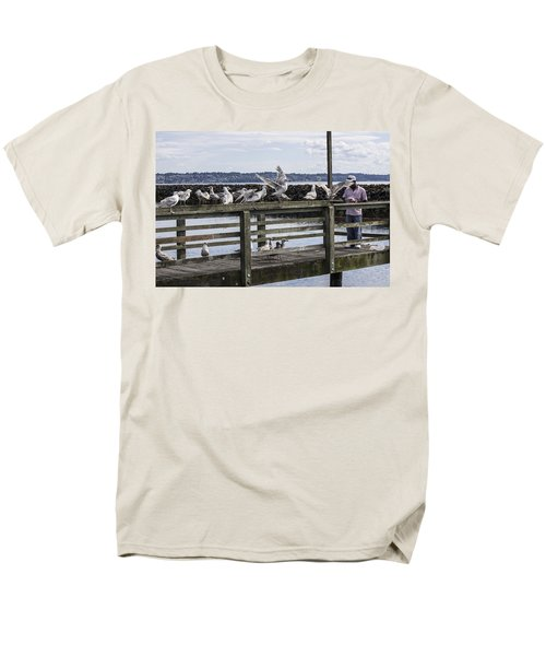 Dinner At The Marina Men's T-Shirt  (Regular Fit) by Cathy Anderson