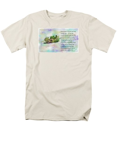 Do Not Stand At My Grave And Weep Men's T-Shirt  (Regular Fit) by Barbara Griffin