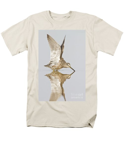 Dowitcher Wing Stretch Men's T-Shirt  (Regular Fit) by Bryan Keil