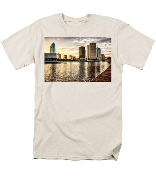 Downtown Tampa At Sunrise Men's T-Shirt  (Regular Fit)