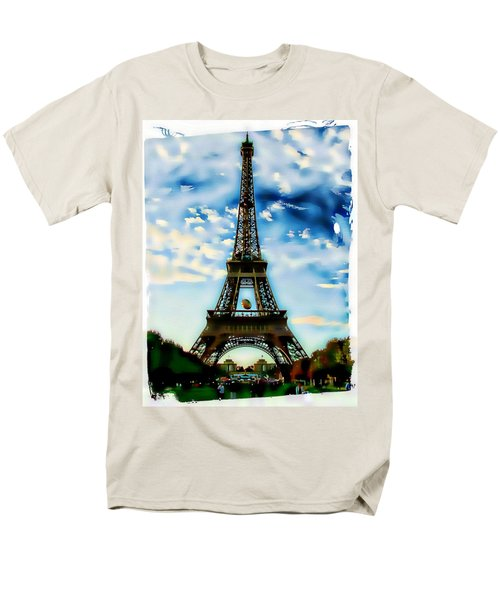 Men's T-Shirt  (Regular Fit) featuring the photograph Dreamy Eiffel Tower by Kathy Churchman