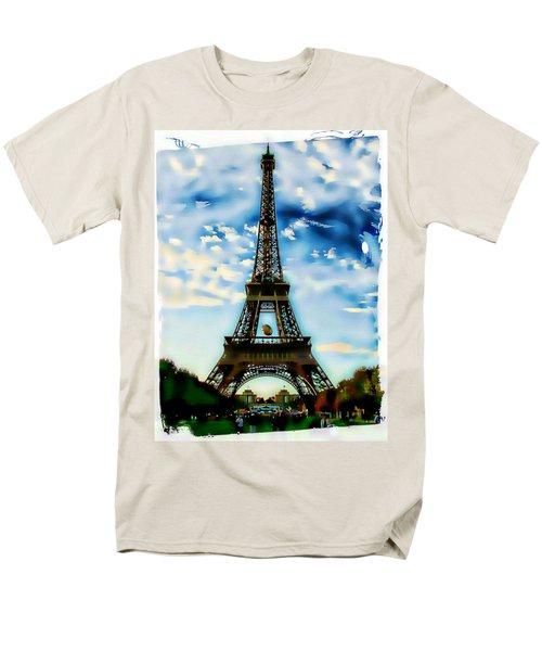 Dreamy Eiffel Tower Men's T-Shirt  (Regular Fit) by Kathy Churchman