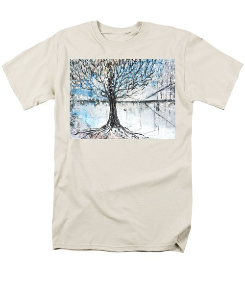Men's T-Shirt  (Regular Fit) featuring the painting Dreamy Spring by Evelina Popilian