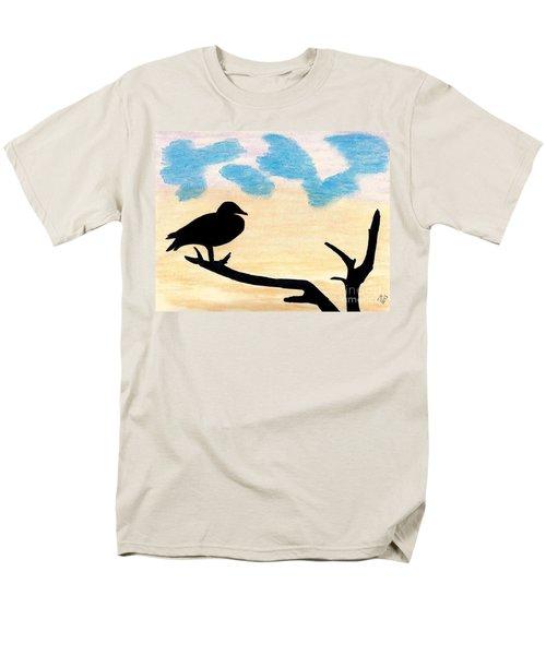 Men's T-Shirt  (Regular Fit) featuring the drawing Duck Sunset by D Hackett