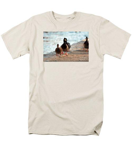 Men's T-Shirt  (Regular Fit) featuring the photograph Duck Walk by David Jackson
