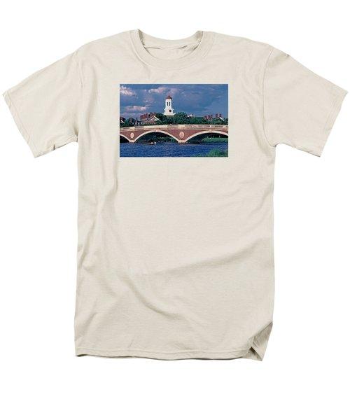 Weeks Bridge Charles River Men's T-Shirt  (Regular Fit) by Tom Wurl