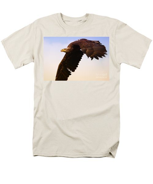 Men's T-Shirt  (Regular Fit) featuring the photograph Eagle In Flight by Nick  Biemans