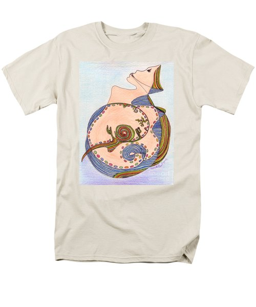 Men's T-Shirt  (Regular Fit) featuring the drawing Earth In Harmony by Mukta Gupta