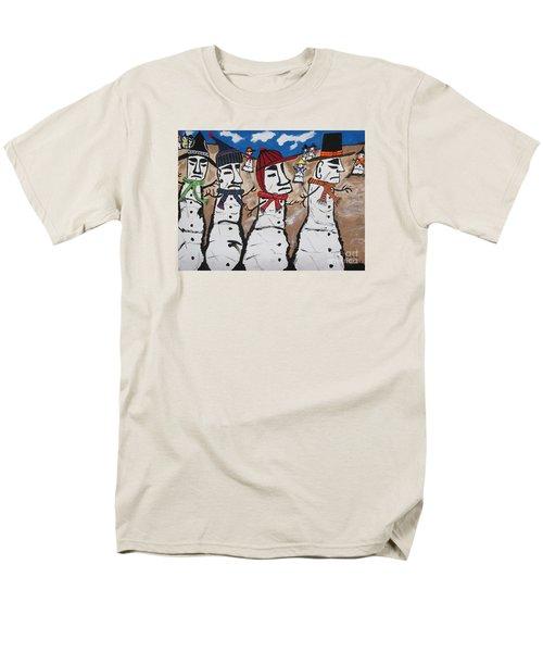 Easter Island Snow Men Men's T-Shirt  (Regular Fit) by Jeffrey Koss