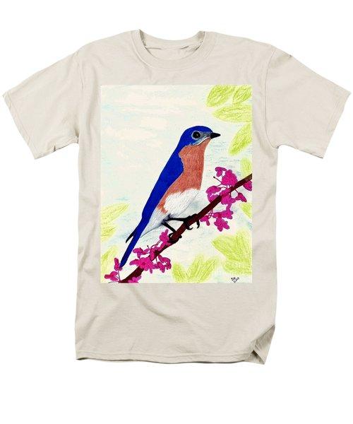 Men's T-Shirt  (Regular Fit) featuring the drawing Florida - Eastern - Blue Bird by D Hackett