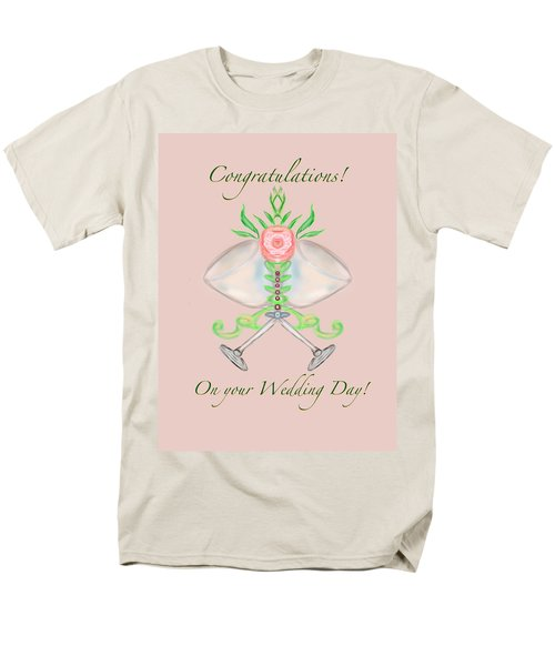 Men's T-Shirt  (Regular Fit) featuring the digital art Elegant Wedding by Christine Fournier