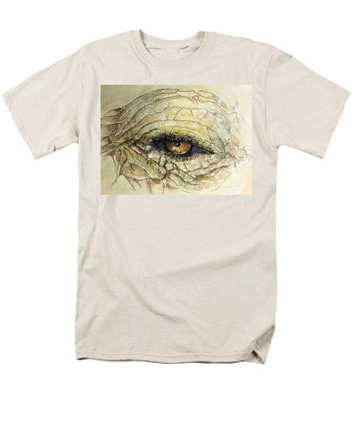 Men's T-Shirt  (Regular Fit) featuring the painting Elephant Eye by Bernadette Krupa