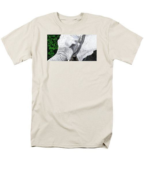 Men's T-Shirt  (Regular Fit) featuring the painting Elephant II by Jeanne Fischer