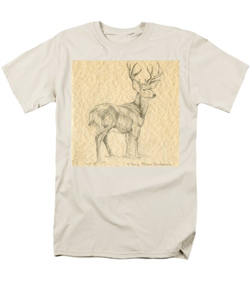 Men's T-Shirt  (Regular Fit) featuring the drawing Elk by Mary Ellen Anderson