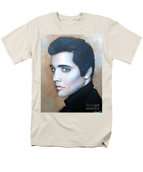 Men's T-Shirt  (Regular Fit) featuring the painting Elvis by Patrice Torrillo