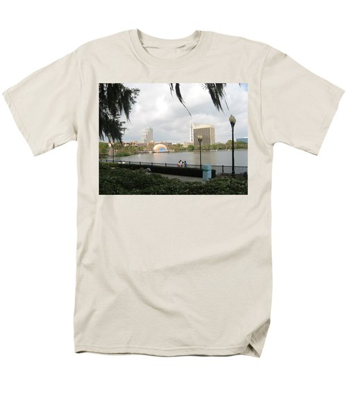Eola Park In Orlando Men's T-Shirt  (Regular Fit) by Judith Morris
