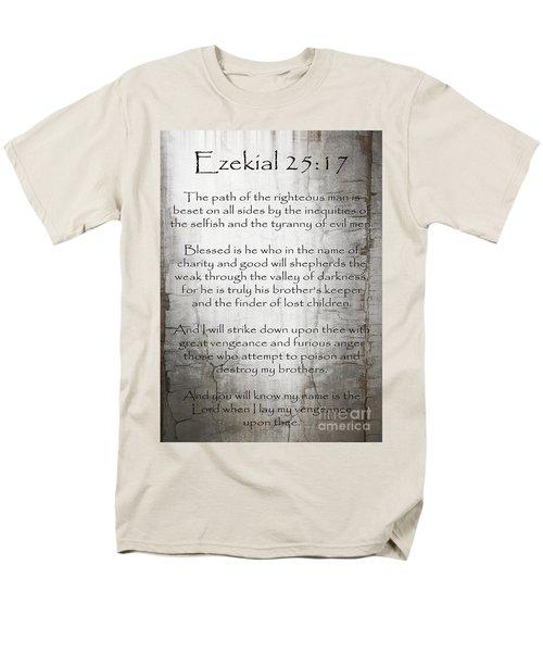 Ezekial 25 17 Men's T-Shirt  (Regular Fit) by Roz Abellera Art