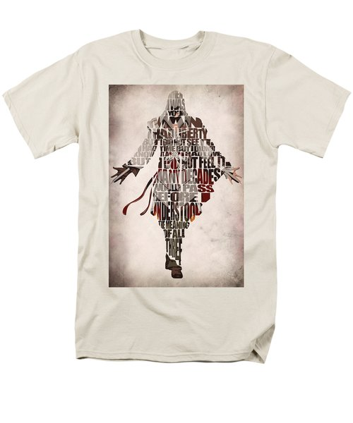 Ezio Auditore Da Firenze From Assassin's Creed 2  Men's T-Shirt  (Regular Fit) by Ayse Deniz