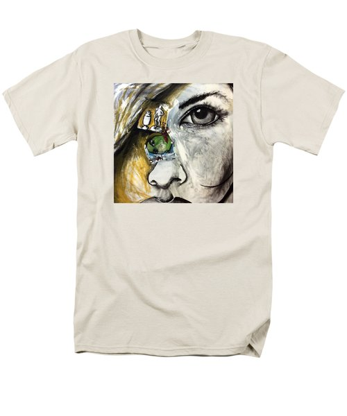Face To Face Men's T-Shirt  (Regular Fit) by Helen Syron