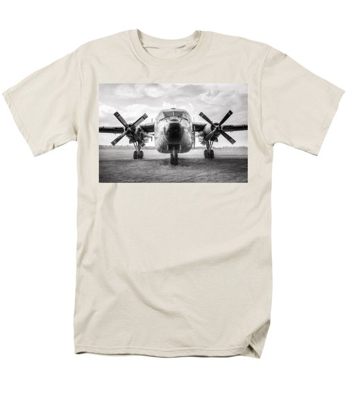 Men's T-Shirt  (Regular Fit) featuring the photograph Fairchild C-119 Flying Boxcar - Military Transport by Gary Heller