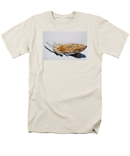 Men's T-Shirt  (Regular Fit) featuring the painting Fallen Feather by Beverley Harper Tinsley