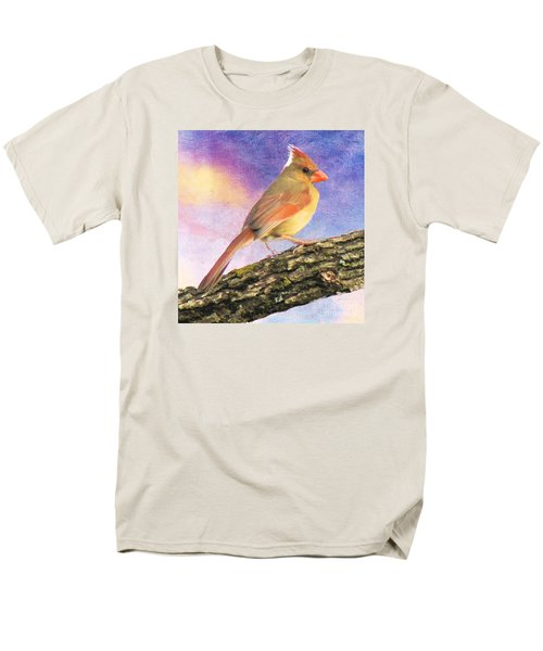 Female Cardinal Away From Sun Men's T-Shirt  (Regular Fit) by Janette Boyd