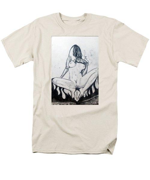 Men's T-Shirt  (Regular Fit) featuring the drawing Fertility Fertilidad by Lazaro Hurtado