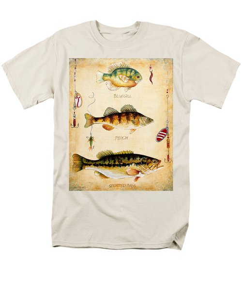 Fish Trio-c Men's T-Shirt  (Regular Fit) by Jean Plout