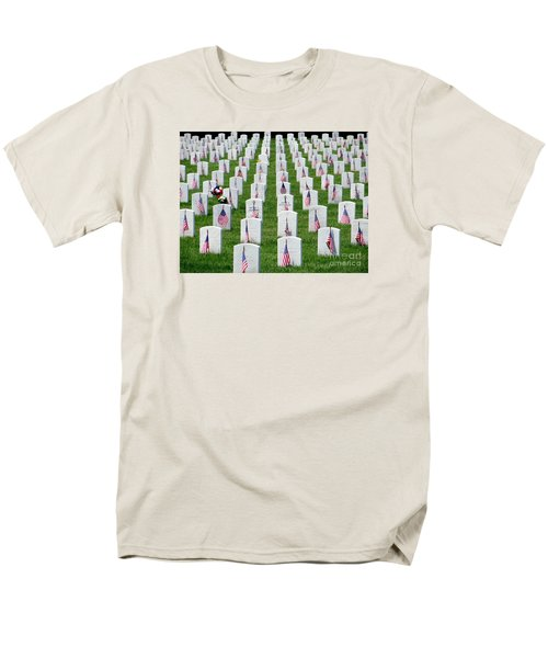Men's T-Shirt  (Regular Fit) featuring the photograph Flags Of Honor by Ed Weidman