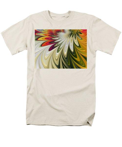 Men's T-Shirt  (Regular Fit) featuring the digital art Flower Power by Gabriella Weninger - David