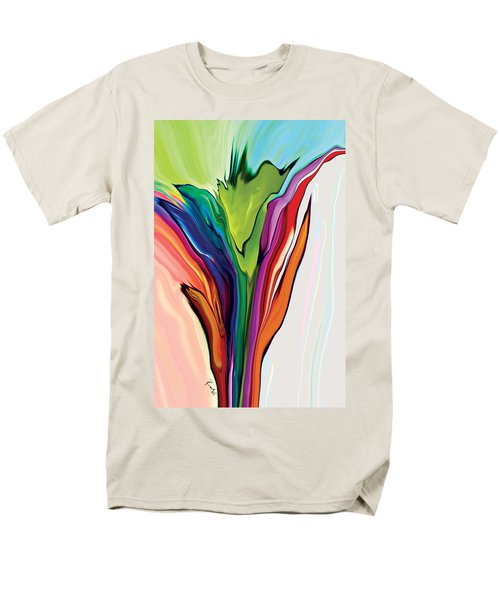 Flowery 5 Men's T-Shirt  (Regular Fit) by Rabi Khan