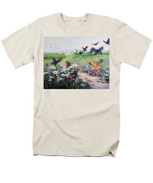 Men's T-Shirt  (Regular Fit) featuring the painting Flutterby Dreams by Karen Ilari