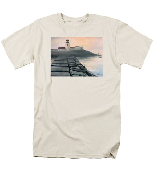 Fog Burning Off Men's T-Shirt  (Regular Fit) by Eileen Patten Oliver