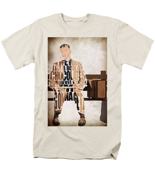 Forrest Gump - Tom Hanks Men's T-Shirt  (Regular Fit) by Ayse Deniz