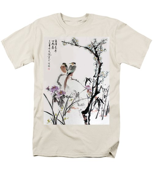 Men's T-Shirt  (Regular Fit) featuring the photograph Four Seasons In Harmony by Yufeng Wang