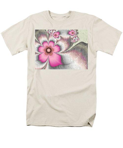 Fractal Nostalgic Flowers 2 Men's T-Shirt  (Regular Fit) by Gabiw Art