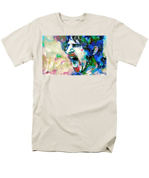 Frank Zappa  Portrait.4 Men's T-Shirt  (Regular Fit) by Fabrizio Cassetta
