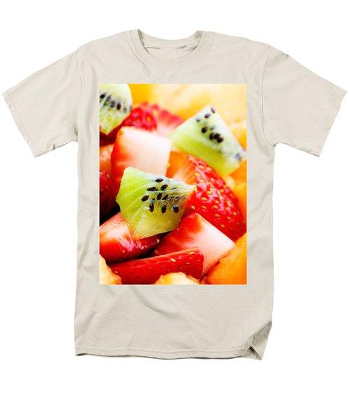 Fruit Salad Macro Men's T-Shirt  (Regular Fit) by Johan Swanepoel