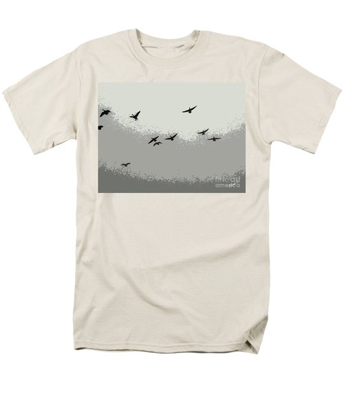 Men's T-Shirt  (Regular Fit) featuring the photograph Geese In Sillouehette by Nina Silver