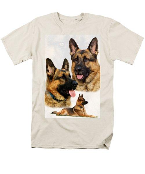 German Shepherd Collage Men's T-Shirt  (Regular Fit) by Sandy Keeton